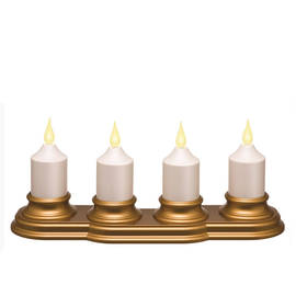 Rechargeable Votive Candles with Charger