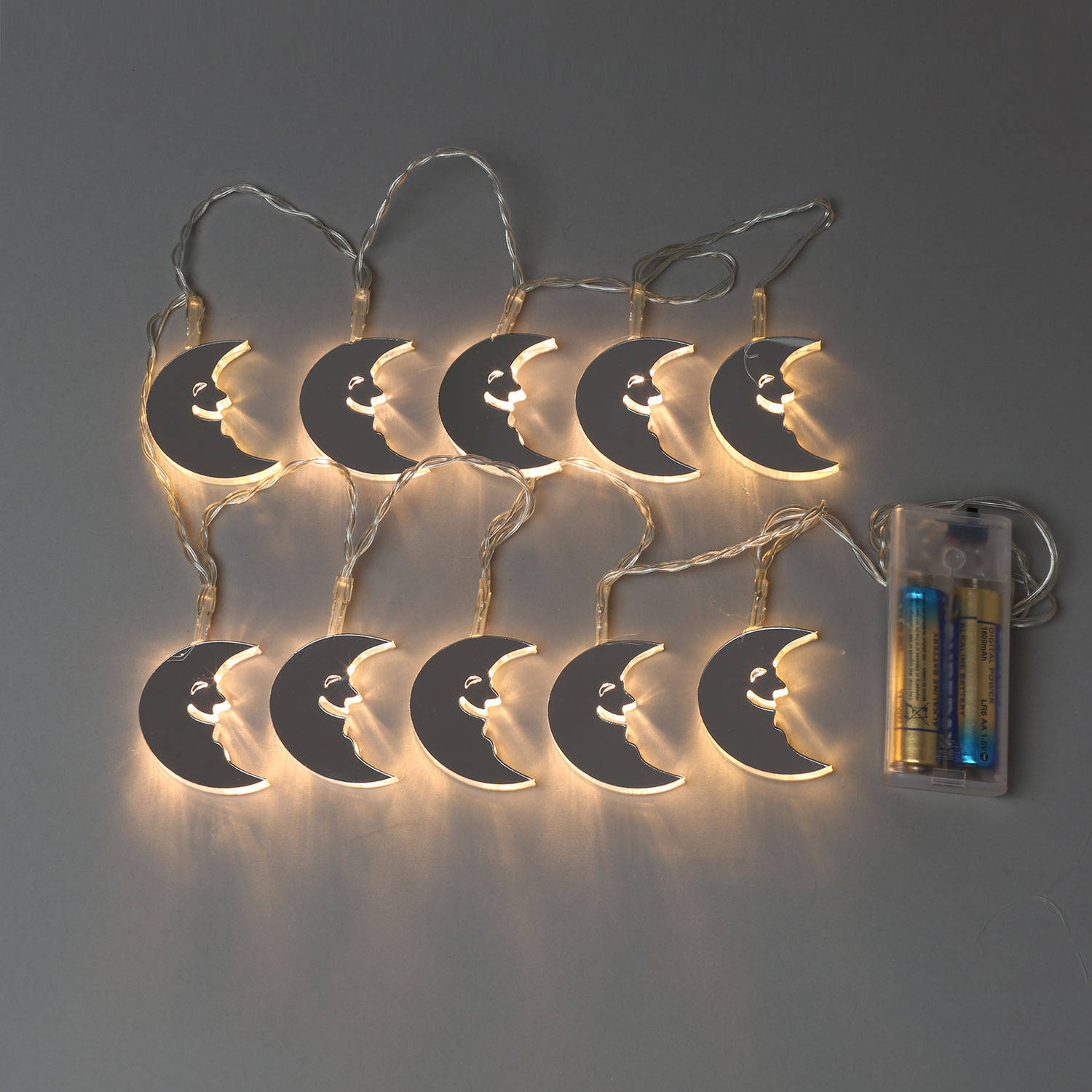 String Lights Moon : Lights.com String Lights Decorative String Lights Mirrored Moon Battery String Lights ...