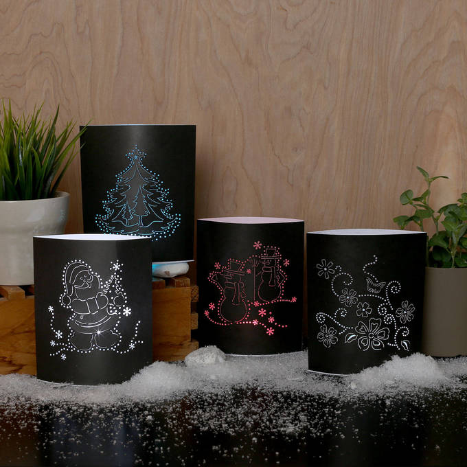 Winter Wonders Luminary Paper Votives, Set of 4