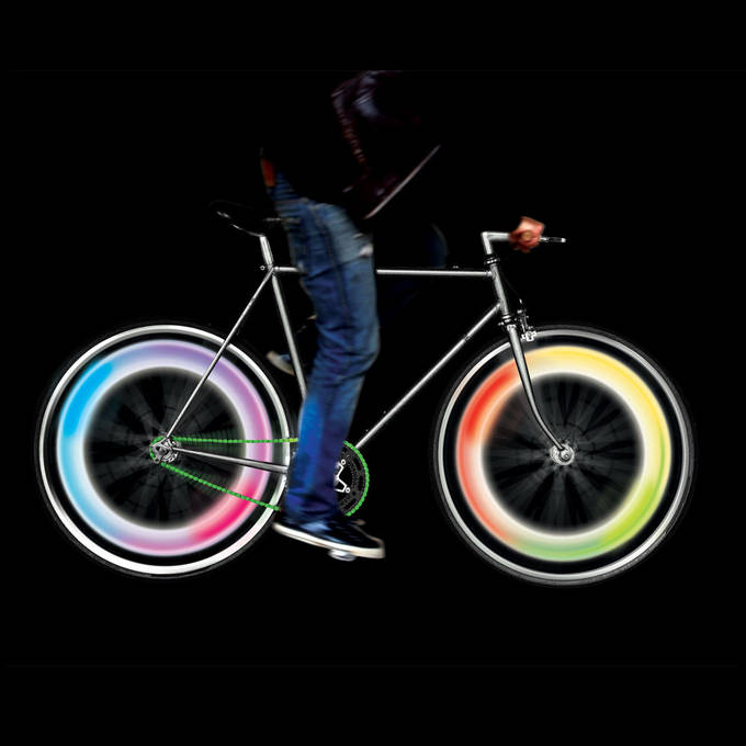 light and motion sensor bike wheel lights multicolor. Black Bedroom Furniture Sets. Home Design Ideas