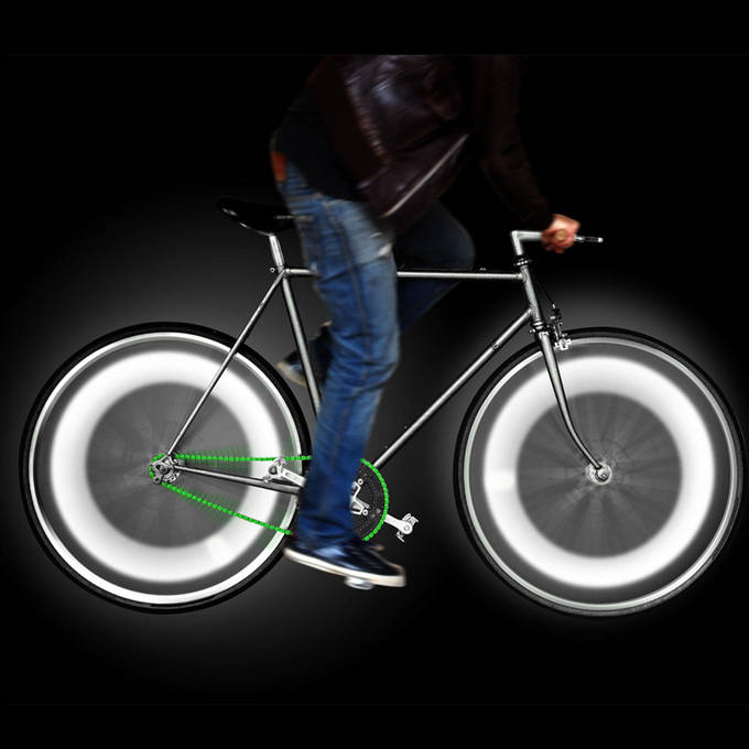 Light and Motion Sensor Bike Wheel Lights, Cool White