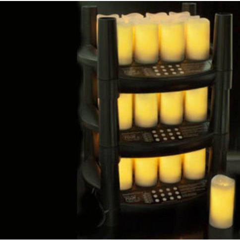 """Easy Stack Rechargeable 3\"""" Votives - Set of 12"""