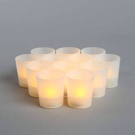 Amber Flameless Party Votive, Set of 12