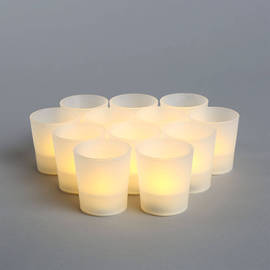 Warm White Flameless Party Votives, Set of 12