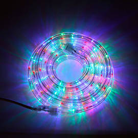 Super Bright Plasma Expandable LED Plug-in Rope Lights, Multicolor