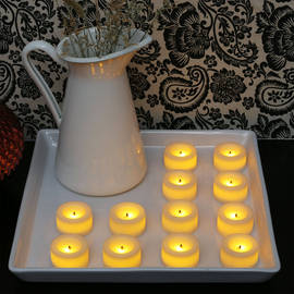 Cream Mini Flameless Votive with Faux Wick, Set of 12