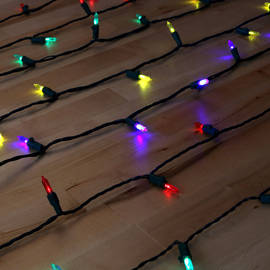 Multicolor 100 LED Traditional Battery String Lights