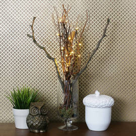 "Natural 20"" Willow Lighted Branch"
