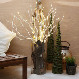 """Outdoor Electric White 36"""" Plug-in Lighted Branch"""