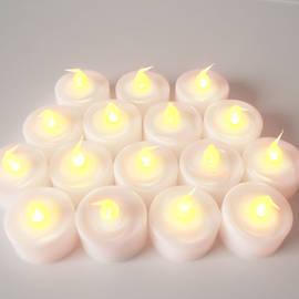 Extra Bright Battery Tea Lights, Set of 25