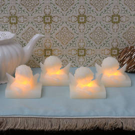 Mini Cherub Flameless Candle, Set of 4