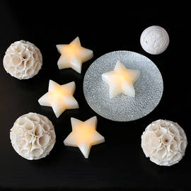 3D Star Flameless Candle, Set of 4