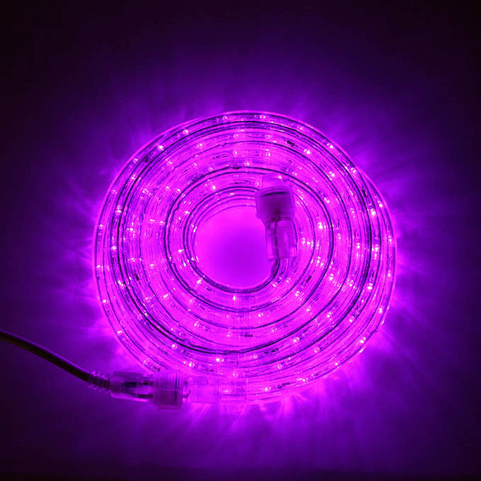 Super Bright Plasma Expandable LED Plug-in Rope Lights, Purple (24.5 ft.)
