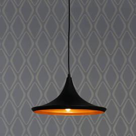 Single Bulb Matte Black Loft Pendant