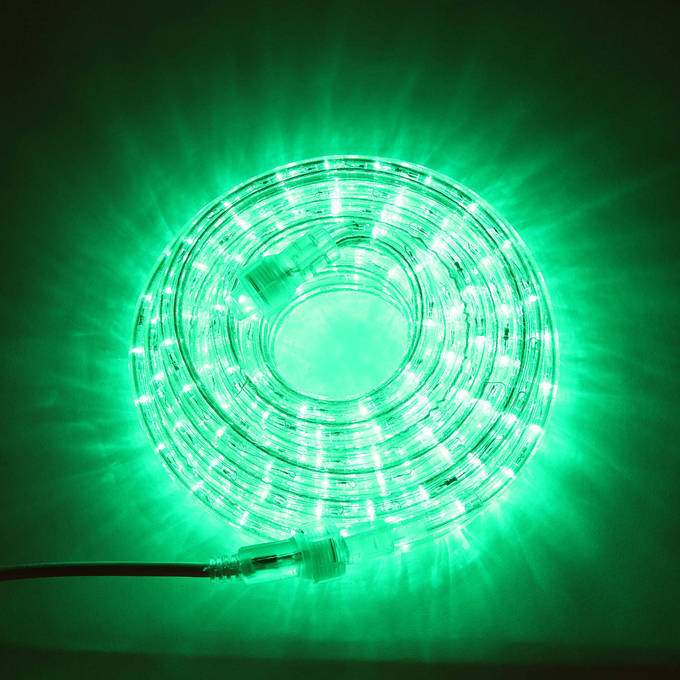 Super Bright Plasma Expandable LED Plug-in Rope Lights, Green (24.5 ft.)