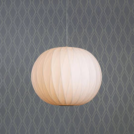 Faceted Hanging Cloth Globe Lantern Pendant