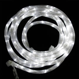 Cool White 100 LED Connectable Battery Rope Lights, (16.5 ft.)