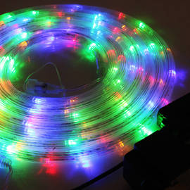 Color Changing 100 LED Connectable Battery Rope Lights, (16.5 ft.)