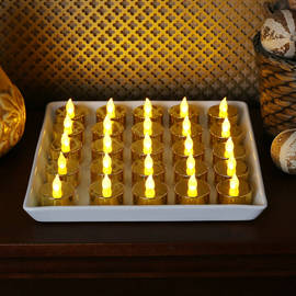 Flickering Flame Battery Tea Lights, Set of 25