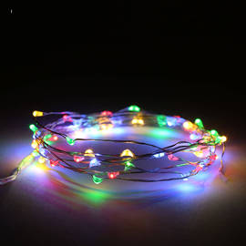 Multicolor Constellation Series 50 LED Wire Battery String Lights