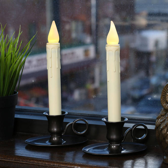 electric window candles and christmas candelabras. Black Bedroom Furniture Sets. Home Design Ideas