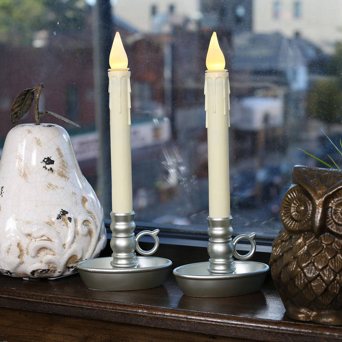 flameless candles window candles ivory drip battery. Black Bedroom Furniture Sets. Home Design Ideas