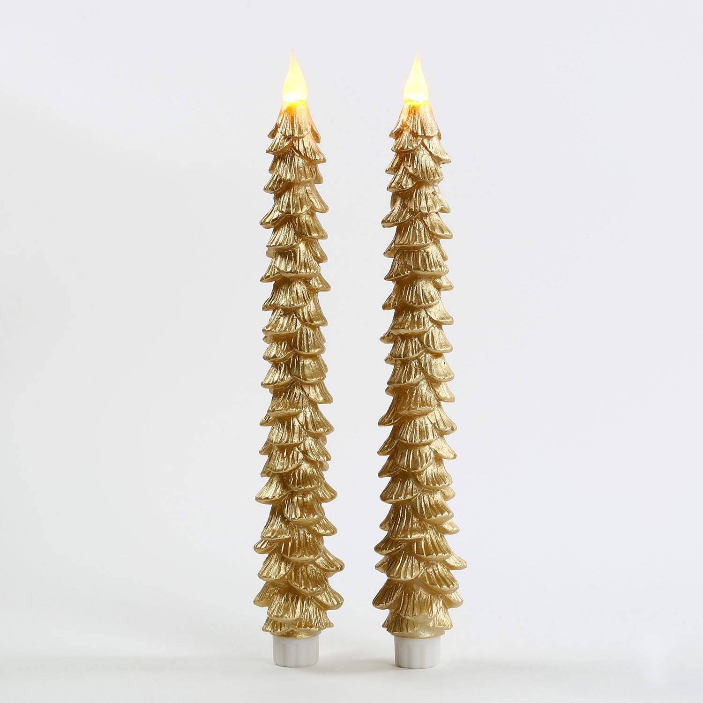 Lightscom Lit Decor Flameless Candles Taper