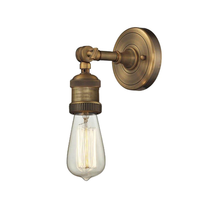 garden wall lights vintage brushed brass swivel neck wall sconce. Black Bedroom Furniture Sets. Home Design Ideas