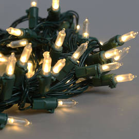 Traditional Bulb Battery String Lights, Strand of 100